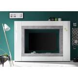 Wohnwand Rock - Silberfarben/Weiß, MODERN, Holzwerkstoff (226/163/40cm) - Livetastic
