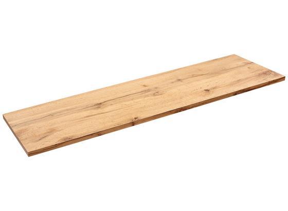 Nástenná Polica Skate 120/30 - farby dubu, Moderný, kompozitné drevo (120/1,8/30cm)
