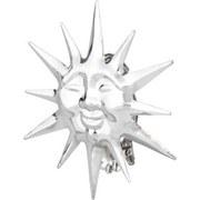 Dekospange Sonne, 2 Stk. - Chromfarben, KONVENTIONELL, Metall