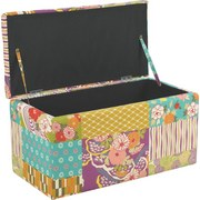 Truhenbank Patchwork 80 cm - Multicolor, KONVENTIONELL, Holzwerkstoff/Textil (80/40/40cm)