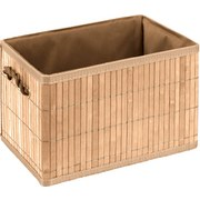 Regalkorb Crawford, L - Naturfarben, KONVENTIONELL, Holz/Textil (32,5/23/20cm) - OMBRA