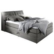 Boxspringbett mit Topper & Bettkasten 180x200cm Space - Hellgrau, KONVENTIONELL, Holzwerkstoff/Textil (180/200cm) - MID.YOU