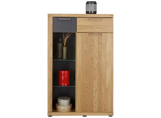 Komoda Highboard Bianco - farby dubu/grafitová, Konvenčný, drevo/kompozitné drevo (80/126/37cm) - Zandiara