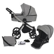 Kinderwagenset Life B: 57 cm Graphit Grau - Chromfarben/Graphitfarben, Basics, Textil/Metall (57/118/105cm) - Knorr