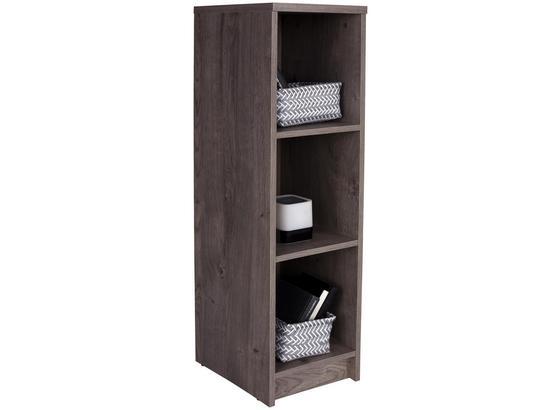 Regál 4-you Yur05 - tmavohnedá, Moderný, kompozitné drevo (30/111,4/34,6cm)