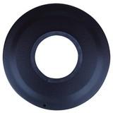 Ofenrohr Rosette - Schwarz, MODERN (8cm)