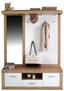Garderobe Malta in San Remo Hell Dekor - Eichefarben/Weiß, MODERN, Holzwerkstoff (145/197/36cm)