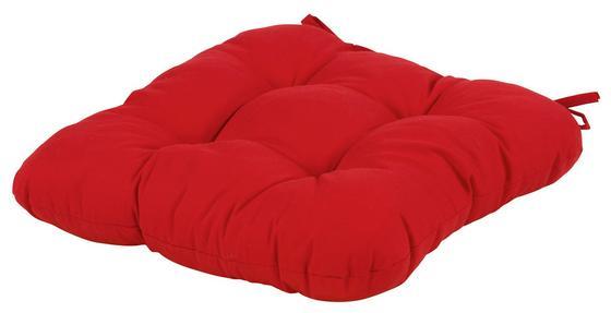 Ülőpárna Elli - piros, konvencionális, textil (40/40/6cm) - OMBRA