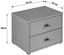 Noční Stolek 4-you Yuk12  *cenový Trhák* - bílá, Konvenční, kompozitní dřevo (50/38.1/35.2cm)