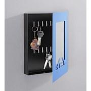 Schlüsselkasten Karl - Blau/Schwarz, MODERN, Glas/Metall (23/29/7cm)