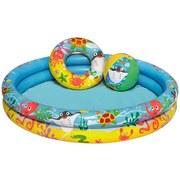Spielpool Pancho - Multicolor, Kunststoff (122/20cm) - Bestway