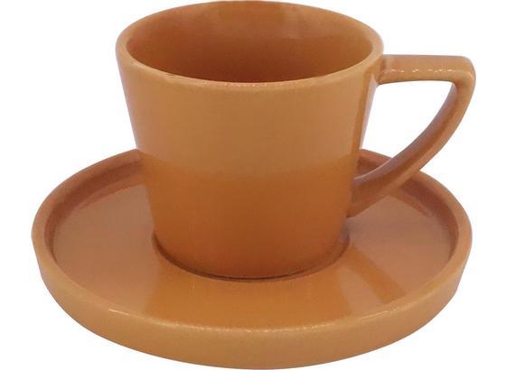 Šálka Na Espresso S Podšálkou Merit - žltá, Moderný, keramika (0,120l) - Premium Living