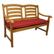 Bankauflage Premium T: 120 cm Rot - Rot, Basics, Textil (45/8-9/120cm) - Ambia Garden