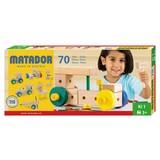 Steckbausteine Matador Ki1, 70 Tlg. - Multicolor/Naturfarben, MODERN, Holz
