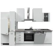 Küchenblock Wito 310cm Weiß - Edelstahlfarben/Weiß, MODERN, Holzwerkstoff (310/60cm) - FlexWell.ai