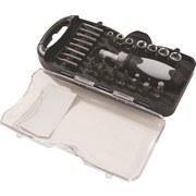 Bits Steckschlüsselsatz 30-teilig - Silberfarben, KONVENTIONELL, Metall