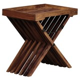 Beistelltisch Mumbai L: ca. 60 cm - Sheeshamfarben, Design, Holz (60/40/57cm) - Livetastic