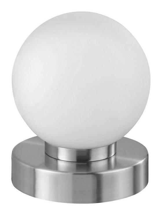 Tischleuchte Jolanda - Weiß/Nickelfarben, KONVENTIONELL, Glas/Metall (12/14,8cm) - Ombra