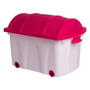 Aufbewahrungsbox Tresure - Pink/Weiß, Kunststoff (58/37/40cm) - Homezone