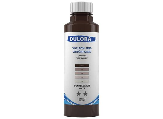Abtönfarbe 500ml Dunkelbraun Matt - Dunkelbraun, Kunststoff (0,500l) - Dulora