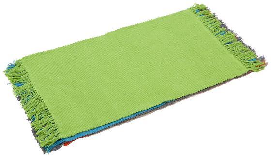 Vorleger Corner 40x60 cm - Beige/Rot, KONVENTIONELL, Textil (40/60cm) - Homezone