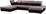 Wohnlandschaft in U-Form Wonder II 241x384x190 cm - Chromfarben/Schwarz, MODERN, Textil (241/384/190cm)