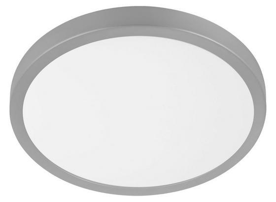 Aufbauleuchte Molay D: 28,5 cm - Silberfarben/Weiß, Basics, Kunststoff/Metall (28,5/2,8cm)