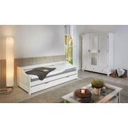 Schrank Kappl B: 150 cm Weiß Kiefer - Weiß, KONVENTIONELL, Holz (150/198/56cm) - Carryhome
