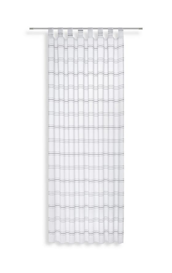 Kombivorhang Halina - Silberfarben/Weiß, KONVENTIONELL, Textil (145/245cm) - Luca Bessoni