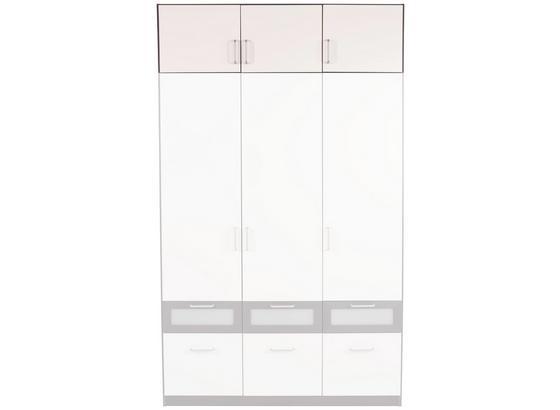 Nadstavec Na Skriňu Nagold-extra - sivá/biela, Konvenčný, kompozitné drevo (136/39/54cm)
