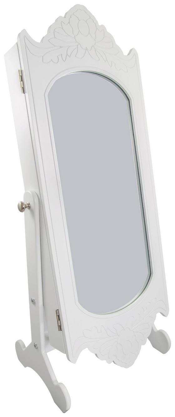 Schmuckschrank Elke inkl. Licht - Weiß, MODERN, Glas/Holzwerkstoff (30/80/25cm)