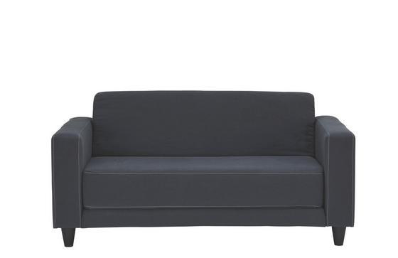 Rozkládací Pohovka Easy - světle šedá/antracitová, textil (146/71/81cm)