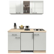 Küchenblock Abaco 150cm Perlmutt - Edelstahlfarben/Perlmutt, MODERN, Holzwerkstoff (150/60cm)