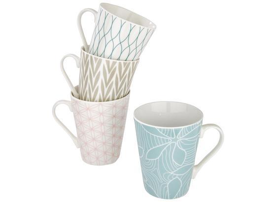 Hrnek Na Kávu Gisi - šedá/modrá, keramika (9,5/10,6cm) - Mömax modern living