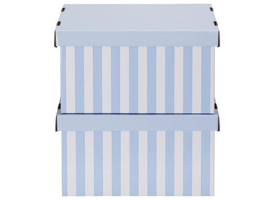Box S Krytom Jimmy - modrá/biela, kartón (35,5/18,5/26,4cm) - Mömax modern living
