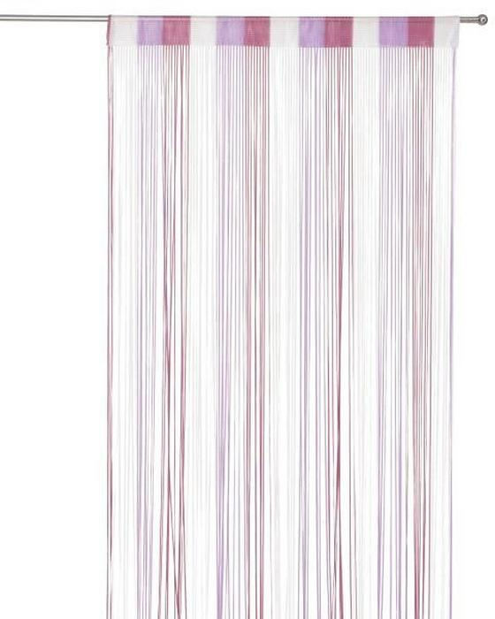 Fadenstore Rita - Aubergine/Multicolor, KONVENTIONELL, Textil (90/245cm) - Luca Bessoni
