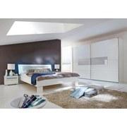 Schwebetürenschrank Advantage 250 cm Weiß/ Glas - Weiß, MODERN, Glas/Holzwerkstoff (250/218/65cm)