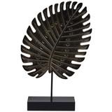 Skulptur Tropical - Schwarz, Design, Holzwerkstoff (12,/4,5/20cm)