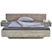 Bettanlage Malta 180x200 Haveleiche/betonoxid - Taupe/Dunkelgrau, MODERN, Holzwerkstoff/Textil (180qm)