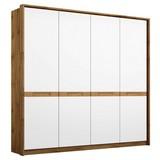 Drehtürenschrank Rangun B: 181 cm Weiß - Eichefarben/Weiß, Basics, Holz/Holzwerkstoff (181/197/54cm)