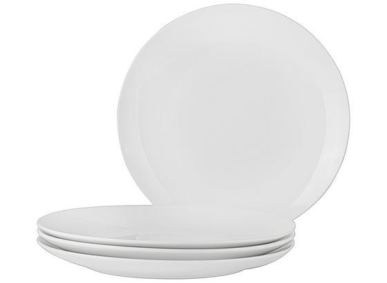 Talíř Jídelní 4 Ks Set, 'billy' - bílá, Moderní, keramika (27cm) - Mömax modern living