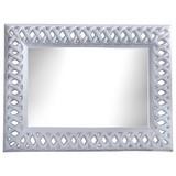 Wandspiegel Beauty - Weiß, MODERN, Glas/Holzwerkstoff (93/123/7cm)