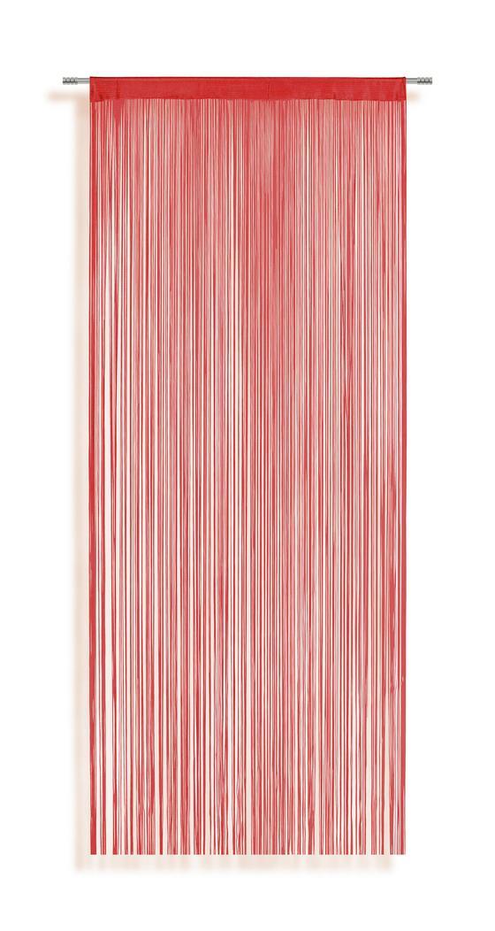 Fadenstore Marietta - Rot, KONVENTIONELL, Textil (90/245cm) - Ombra