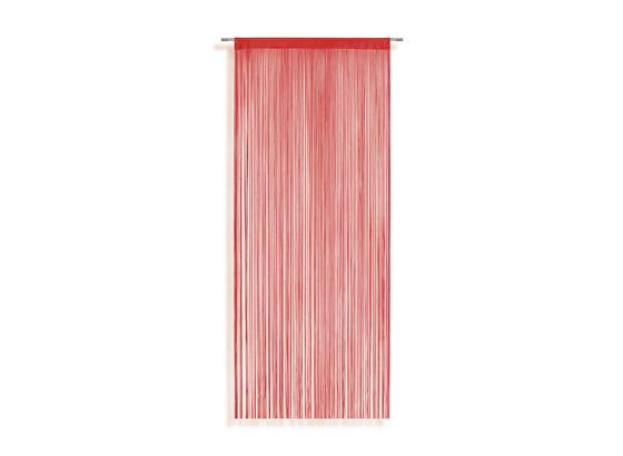 Zsinórfüggöny Marietta - Piros, konvencionális, Textil (90/245cm) - Ombra