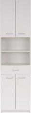 Magasszekrény Fiola - Fehér, konvencionális, Faalapú anyag (50/192/33,5cm)