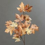 Kunstpflanze Ahornzweig mit Eis - Braun, LIFESTYLE, Kunststoff (87cm)