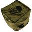 Sedací Vak Lebkoun - čierna/zlatá, Trend, textil (45/45/45cm)