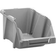 Sichtbox Hubert - Grau, KONVENTIONELL, Kunststoff (24,5/15,2/12,2cm) - HOMEZONE