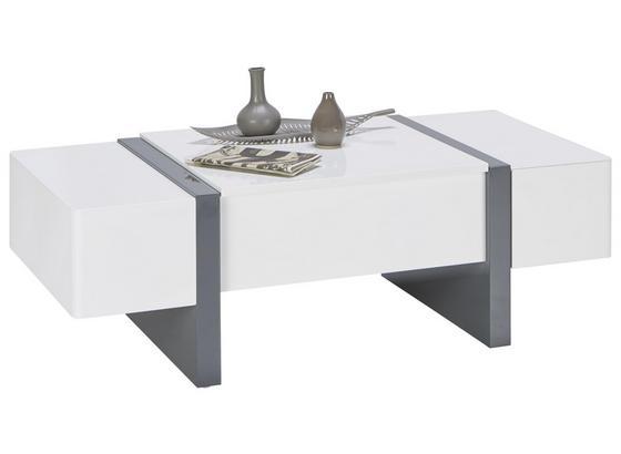 Konferenční Stolek Artemis - šedá/bílá, Moderní, kompozitní dřevo (120/40-66/60cm) - Modern Living