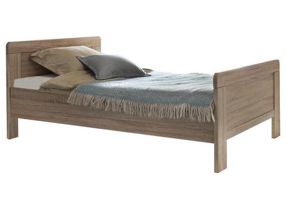 Bett Nadja ca. 100x200 cm - Eichefarben, KONVENTIONELL, Holzwerkstoff (100/200cm) - Cantus
